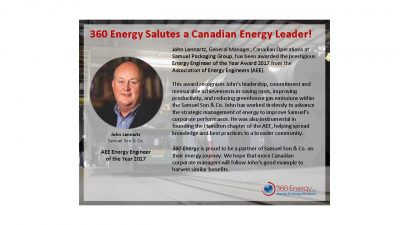 360 Energy Salutes a Canadian Energy Leader