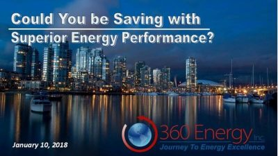 Webinar: Could You be Saving with Superior Energy Performance? – January 10th, 2018